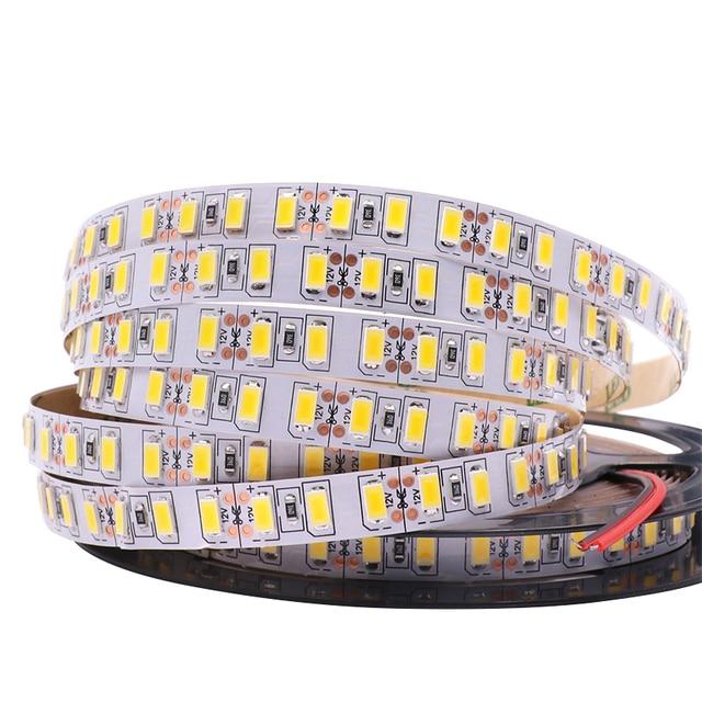 120 leds/m 5 m 5630 led luz de tira 12 v dc flexível led luz 600led 300led pixel fita não impermeável led lâmpada de natal