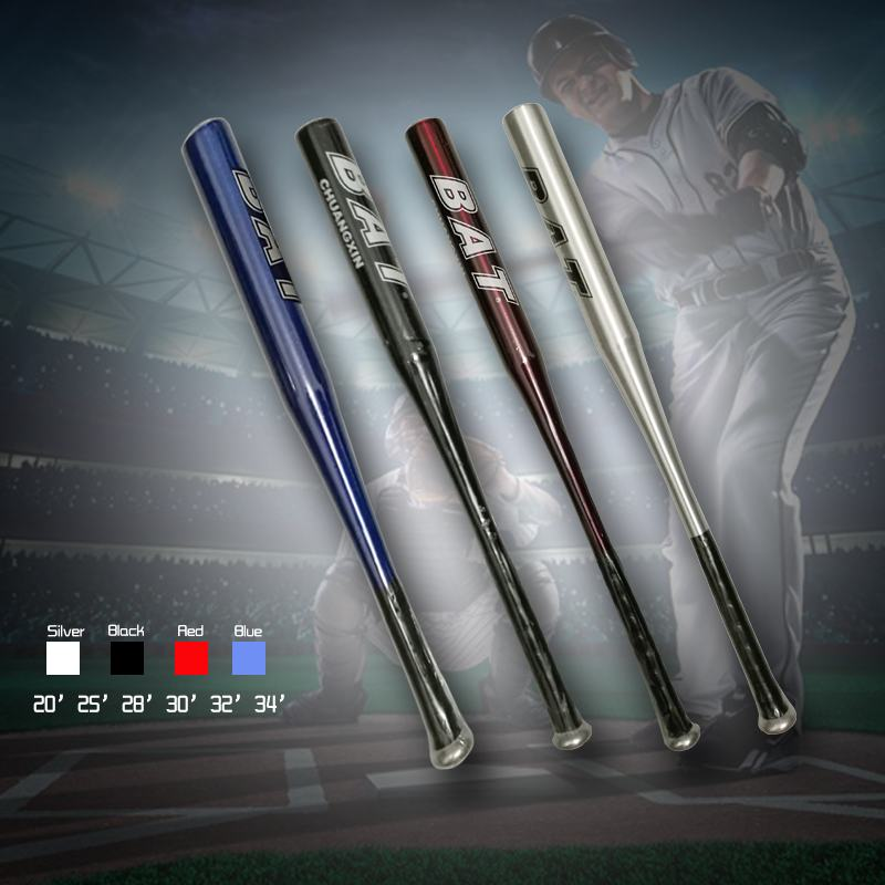Four color Aluminium Alloy Baseball Bat of the Bit Softball Bats 20'25' 28' 32'34' inch Outdoor Sports Fitness Equipment HW195