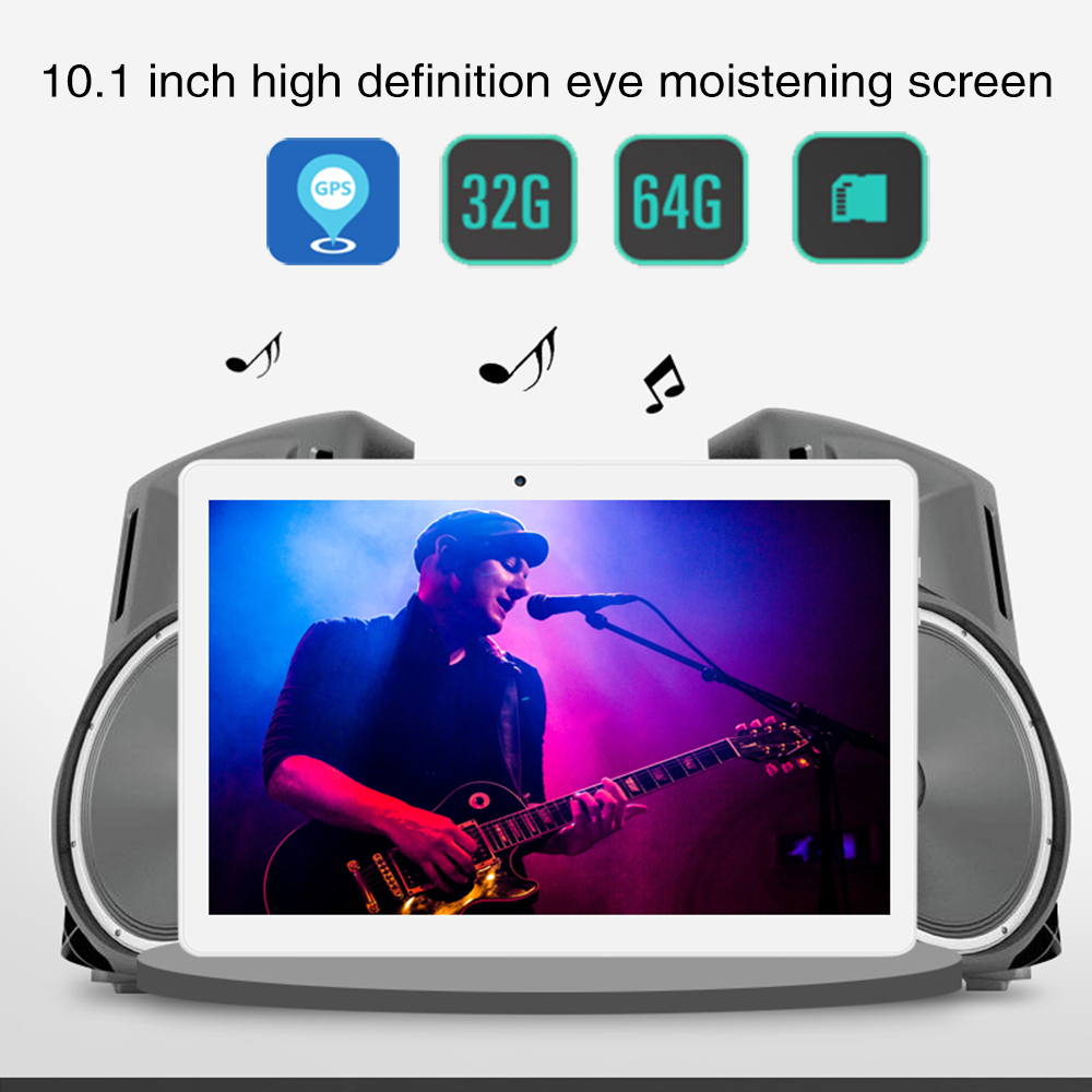 NERLMIAY 2018 New Tablet Android 4.4 2GB RAM 32GB ROM Multi Touch Bluetooth Double SIM Card High Grade Portable Tablet PC