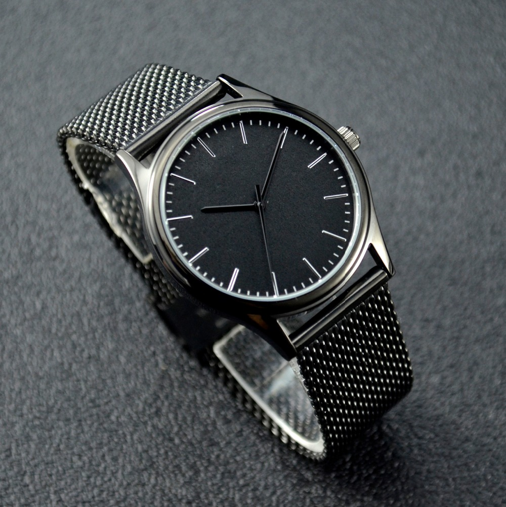 metal dial wwoor watch new fashion strap luxury brand relogio stainless masculino ultra steel watches thin quartz men clock shop top mesh