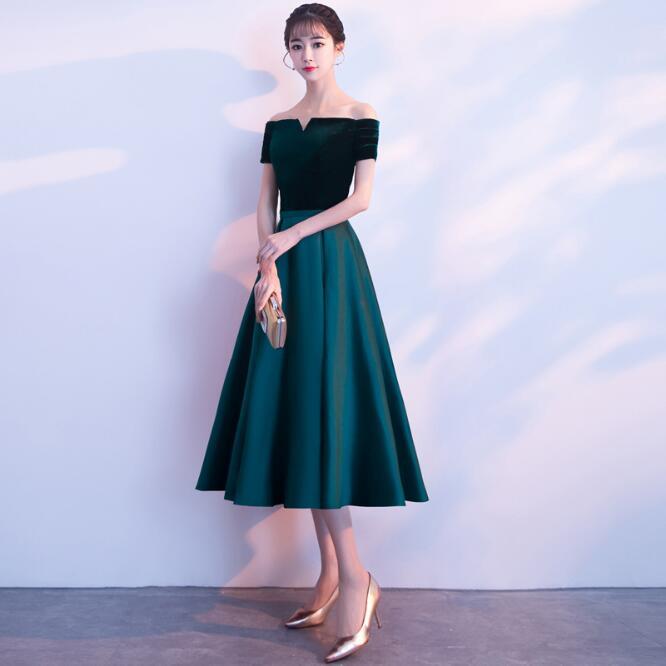 Robes de soirée en velours 2019 robe à lacets robe de soirée formelle robe de bal personnalisée robes robe de soirée - 4