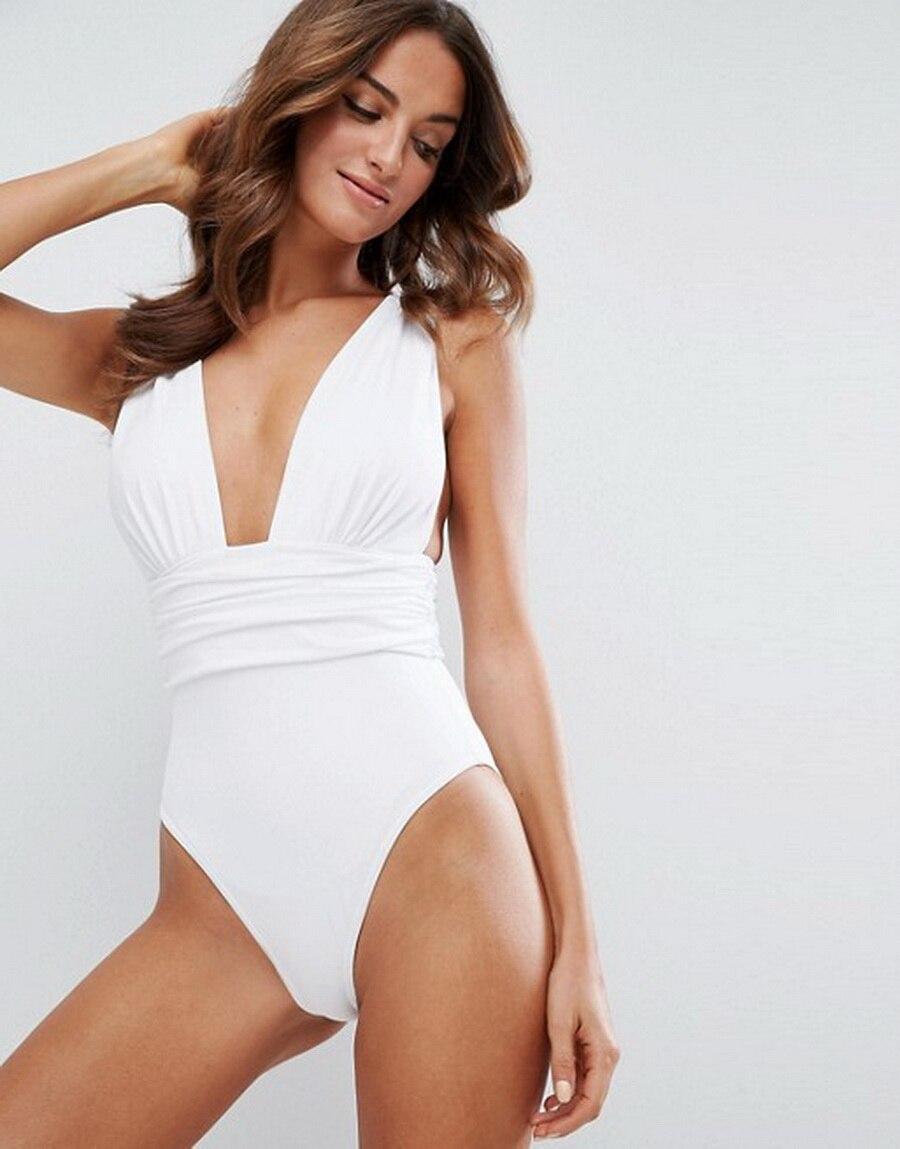 Monokini Swimwear Bodysuit Black White Women Hot V-Neck by 200pcs Romper Dhl