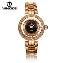 Hollow rotating waterproof watch Ladies Fashion Quartz Watch Casual Dress Women's Watch Gold Diamond reloje mujer montre femme