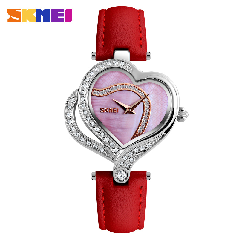 Women Watches 2018 SKMEI Brand Luxury Ladies Wrist Watches Fashion Leather Quartz Watch For Women Relogio Feminino Montre Femme skmei brand women quartz watches fashion casual ladies watch waterproof leather wristwatches montre femme relogio feminino 9162