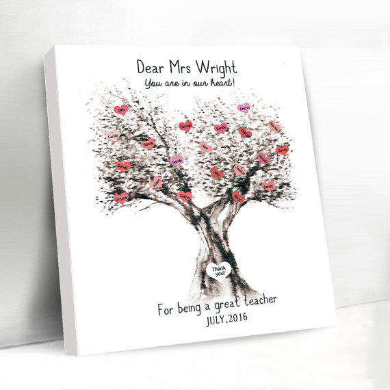 Personalized And Customized Wedding Canvas Guest Book IdeasWedding Love Tree Print Favors In Party DIY Decorations