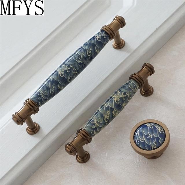 3 75 5 ceramic drawer pulls knob door handles kitchen cabinet rh aliexpress com