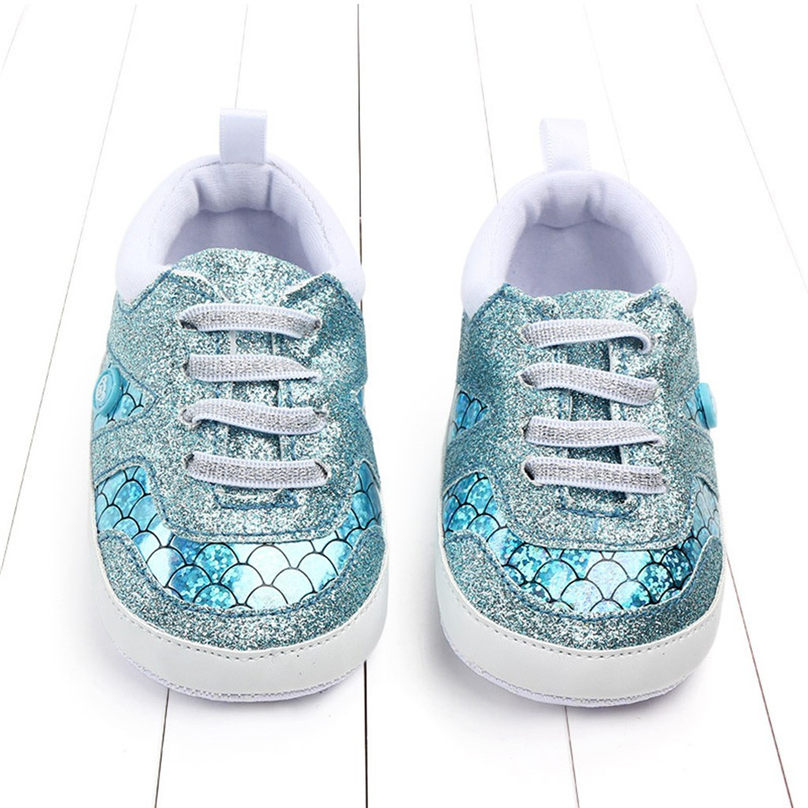 Shoes Baby First-Walkers Girls Newborn Cartoon Boy Bling Scale 4JJ Clothing Sequins Fish-Tail