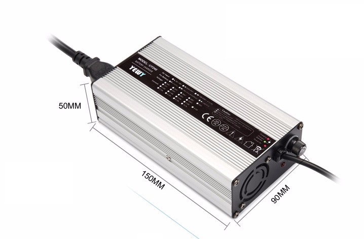 84V 2A Charger 72V Li ion Battery Smart Charger Used for 20S 72V LED Li ion Battery High Power With Fan Aluminum Case