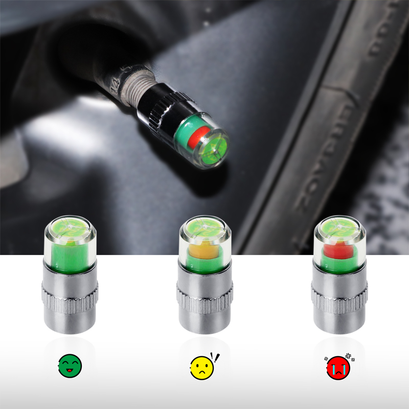 2.0 Bar/ 2.2Bar/ 2.4Bar 36PSI Car Auto Tire Pressure Monitor Valve Stem Caps Sensor Indicator Eye Alert Diagnostic Tools Kit