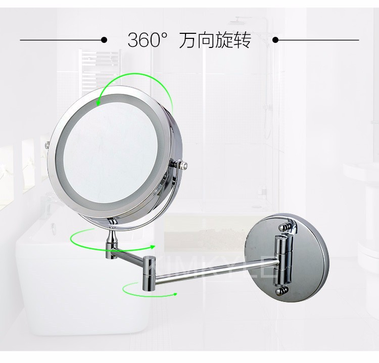 AFSEL Makeup Mirrors LED Wall Mounted Extending Folding Double Side LED Light Mirror 10x Magnification Bath mirror Toilet Mirror 5  AFSEL Makeup Mirrors LED Wall Mounted Extending Folding Double Side LED Light Mirror 10x Magnification Bath mirror Toilet Mirror HTB11K