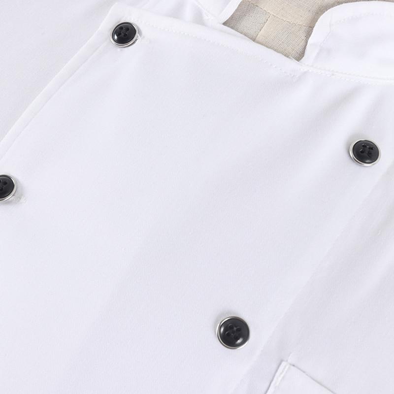 M-3XL New Arrival Women Men Kitchen Restaurant Cozinha Cook Workwear Chef Uniform White Summer Shirt Double Breasted Chef Jacket