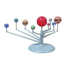 Модель планетарного инструмента с солнечной системой, набор из девяти планет, модель для астрономии и живописи, развивающие игрушки для детей