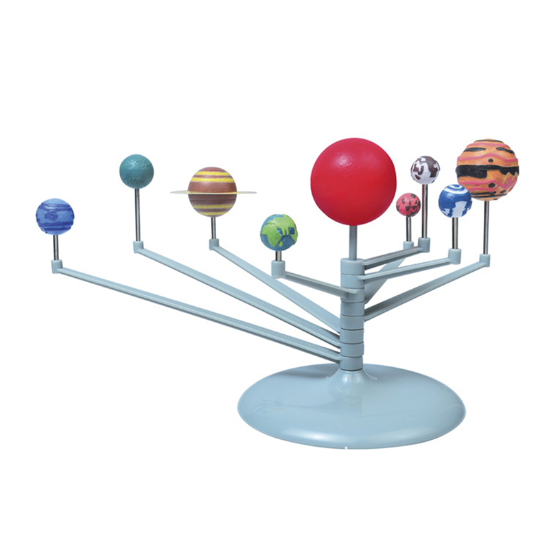 Solar System Planetary Instrument Model Nine Planets Kit Astronomy Painting Model Science Planetarium Educational Toys For Child