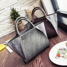 2016 neue Winter-Hit Farbe Mode-Trend Schlangenhaut Muster Handtasche Handtasche Flügel Umhängetasche Diagonal Paket