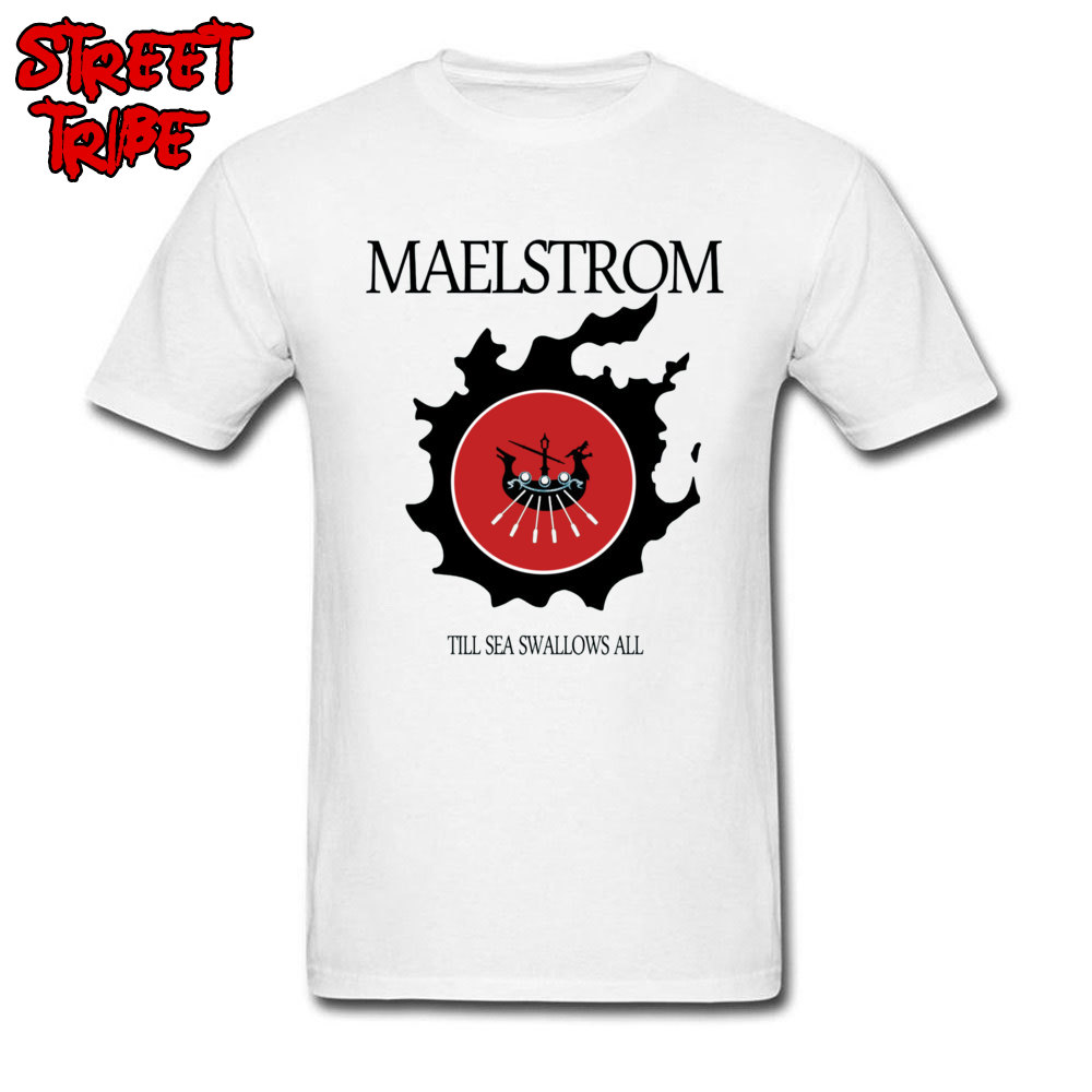 Gamer T-shirt Men FF XIV Maelstrom Tshirt Awesome Final Fantasy T Shirts Custom Cotton White Clothing Male Summer RPG Tops Tees image
