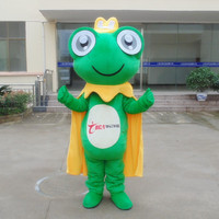 Hot Sale Frog Mascot Costume Halloween Cartoon for Birthday Party Funny Dress Mascot