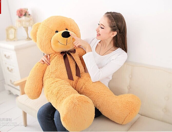 120cm light brown Teddy bear plush toy bear doll throw pillow gift w4823 lovely giant panda about 70cm plush toy t shirt dress panda doll soft throw pillow christmas birthday gift x023