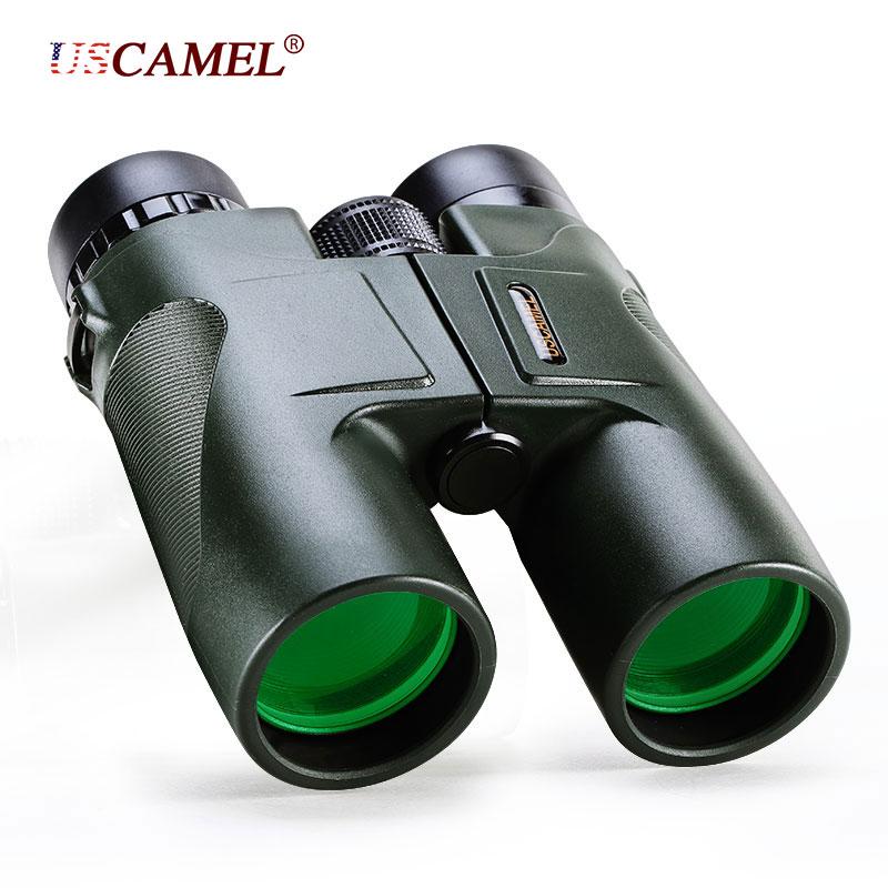 Binoculares profesionales para caza HD 10x42 tipo militar zoom telescópico visión de alta calidad ocular sin infrarrojos color verde USCAMEL