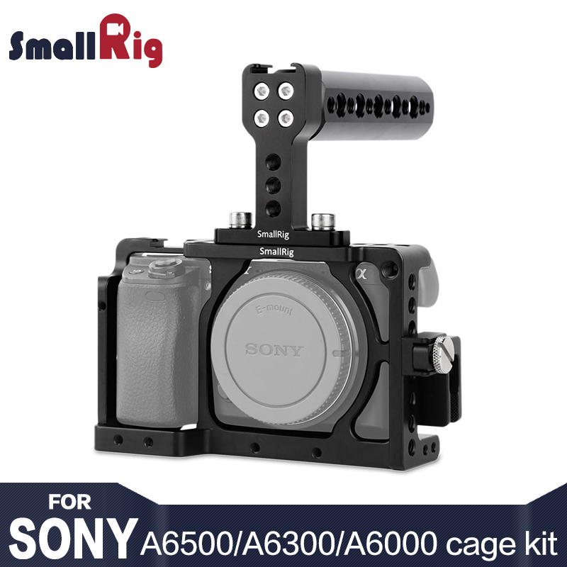 SmallRig A6300 Cage Camera Accessory Kit for <font><b>SONY</b></font> A6300 / A6000 / ILCE-<font><b>6000</b></font> / ILCE-6300 / NEX7 With Top Handle Grip - 1921 image