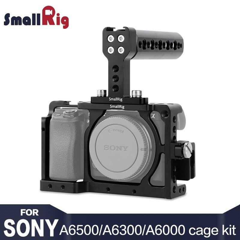 SmallRig A6300 jaula Cámara Kit de accesorios para SONY A6300/A6000/ILCE-6000/ILCE-6300/NEX7 con mango agarre-1921