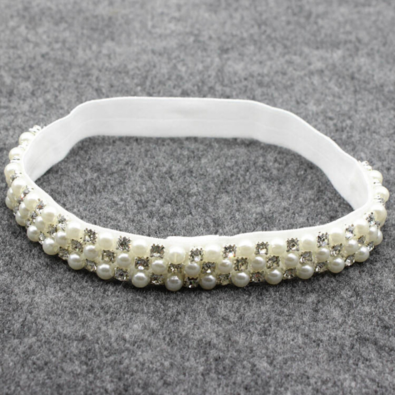 2016 New 1 PCS Newborn Jewelry Crystal Hair Accessories Bling Headbands  Pearl Rhinestone Headband Photography Props Hot Sale-in Hair Accessories  from Mother ... 385609bb8401