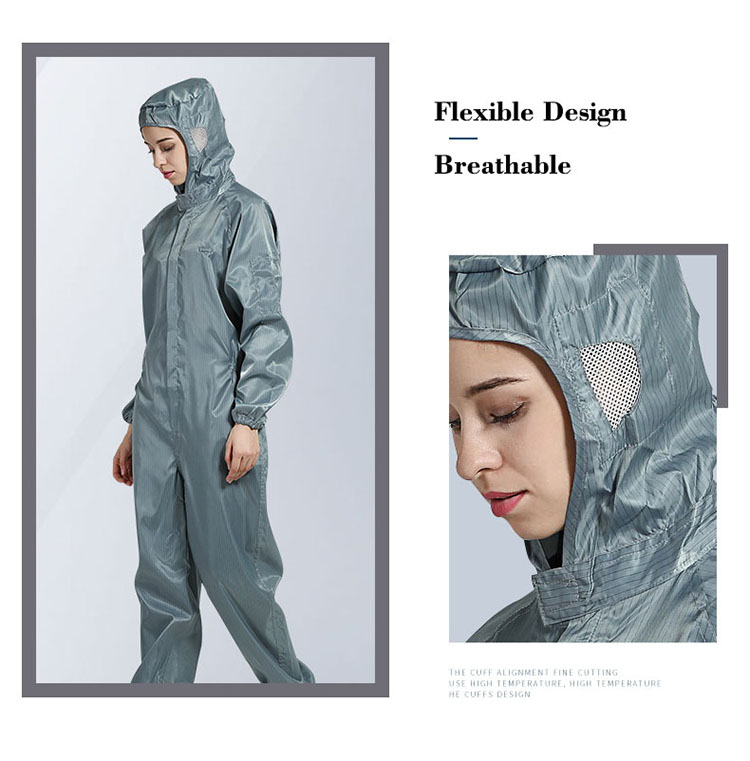 ... Men women Anti-static Clothing Hooded Dust-proof Coveralls Cleanroom  Garments Factory Clean Food ... 08605c1251b
