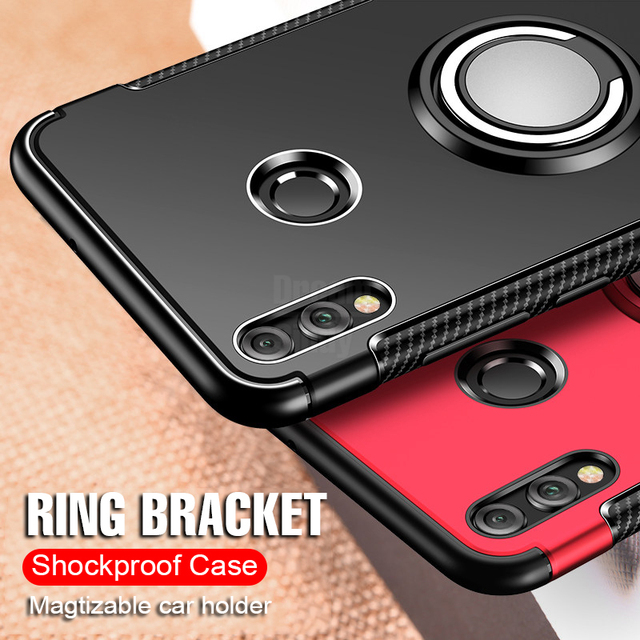 Luxury Car Holder Case On The For Huawei P20 Lite Mate 10 20 Pro P10 Mat TPU Shockproof Case For Honor 8X Max 10 Lite Phone Case