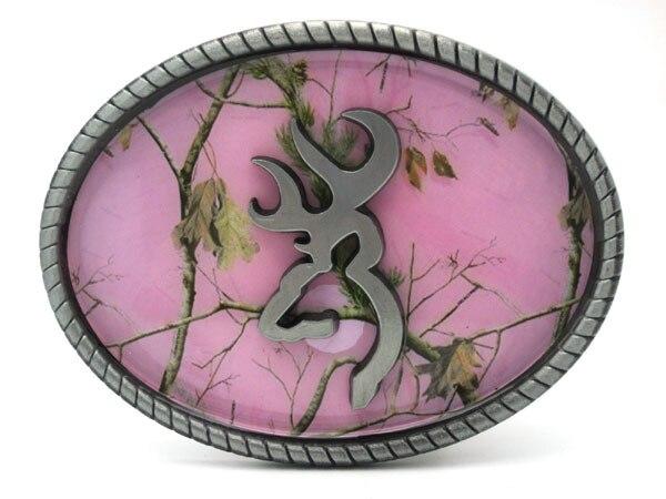 Hebilla de cinturón oval de camuflaje rosa - Artes, artesanía y costura