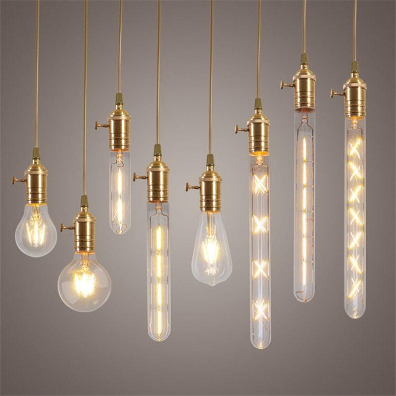 2 8 Watt E27 Cob Led Licht Edison Birne Dimmbare Glühlampen Retro