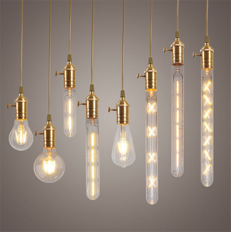 2-8W E27 COB LED Light Edison Bulb Dimmable Incandescent Bulbs Retro Filament Light Globe Bulb Christmas Decor Lighting AC220V e27 led 8w white warm white cob led filament retro edison led bulbs 85 265v
