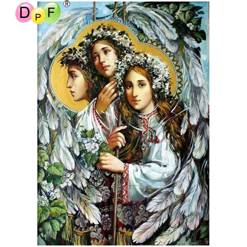 DPF DIY Character feather diamond embroidery wall painting home decor diamond painting cross stitch diamond mosaic square crafts