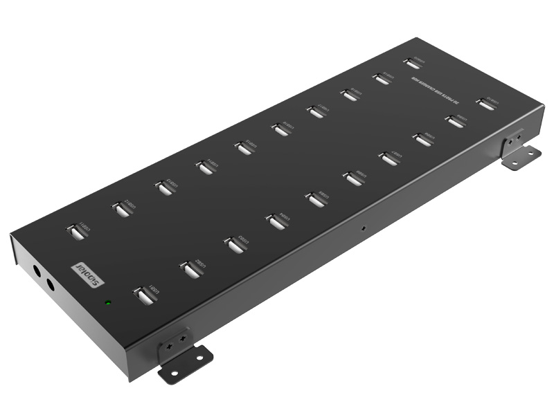 20-Port USB Charging Station can charge 20 devices (iPhone /iPad / cellphone / tablet / DC /MP3 / MP4 / PSP and other devices)