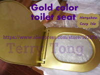Reservation 30 Days in Advance gold color toilet seat cover bathroom wash out type water closet toilet lid upscale Sanitary