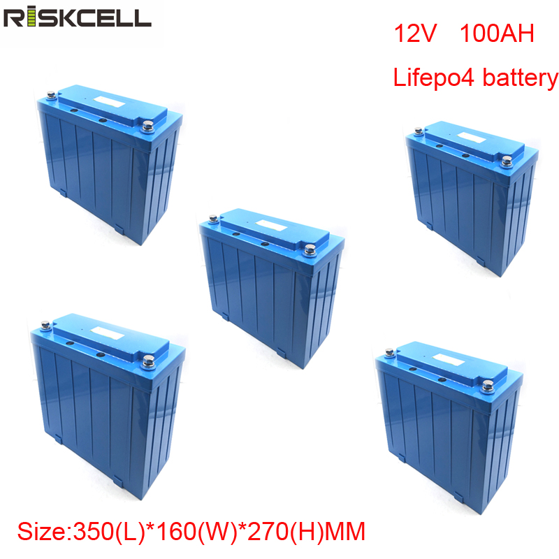 No taxes 5pcs/lot factory price <font><b>12V</b></font> <font><b>100Ah</b></font> <font><b>LiFePO4</b></font> <font><b>battery</b></font> pack for electric scooters, backup power system image