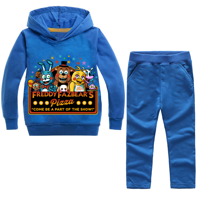 2PCS Boys Girls GTA children's clothing Set Five Nights At Freddys FNaF Clothes Suit New Year's Hoodies Costume