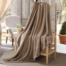 Solid Color Blanket Mesh Pineapple Flannel Blanket Thick Plain Gift Air Conditioning Blanket Nap Blanket стоимость