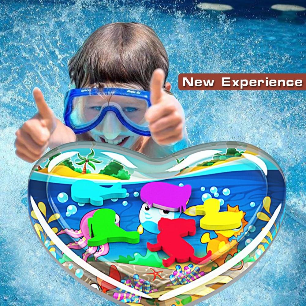 Begeistert Heißer Verkauf Aufblasbare Baby Wasser Mat Infant Bauch Zeit Kleinkind Spaß Aktivität Spielen Zentrum Für Sensorische Stimulation Motor Fähigkeiten
