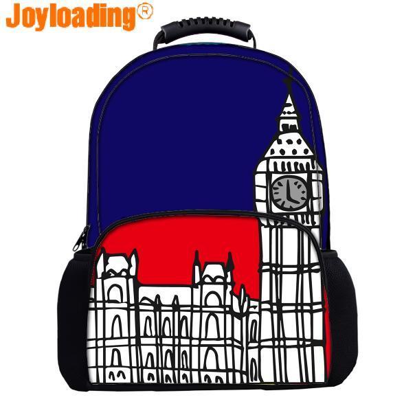 Joyloading Stylish Cartoon UK Factors Big Ben Children Backpack Schoolbag  Pupils Shoulders Bag 70e98e23f2