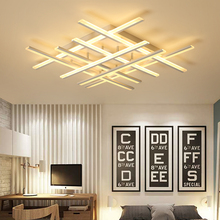 цена на Modern led Chandeliers ceiling For living room lights bedroom Home Dec lustre led plafonnier White Chandelier lighting fixtures