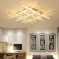Moderno led lustres de teto para sala estar luzes quarto casa dec lustre led plafonnier branco luminárias lustre
