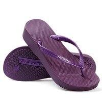 Clear Stock Girl Beach Slippers Seaside Thick Slope Pink Flip Flops Women Soft Wearing Outside Casual Flip Flops Sandals