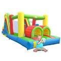 Yard pista de obstáculos bouncer inflável combinação de slides casa pulando trampolim crianças brinquedos