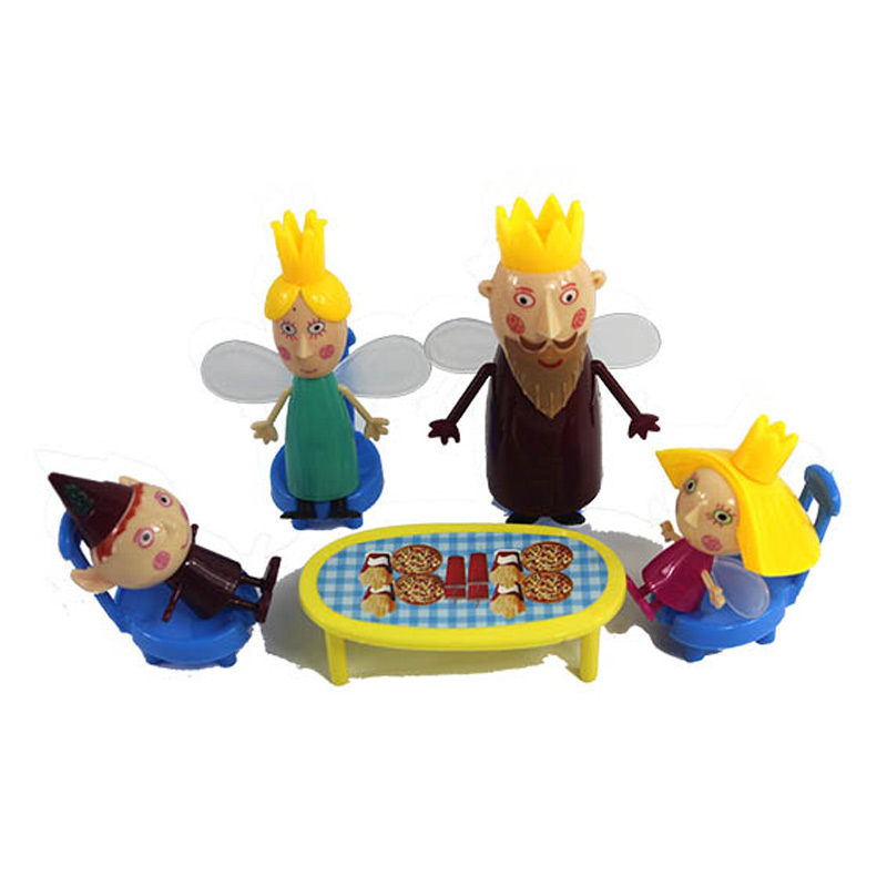 Ben And Holly Anime Figuras Set PVC ben holly Cartoon Figure Toys for Kids in Action Toy Figures from Toys Hobbies