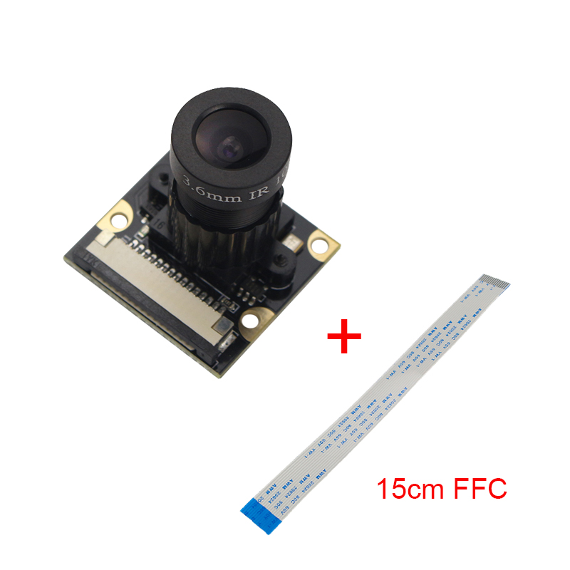 Raspberry 3 B+ Camera Night Vision 5 MP OV5647 1080p Focal Adjustable Camera Module support Raspberry Pi 3 Model B + 15 cm Cable