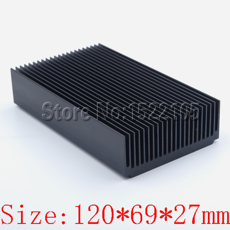 Heatsink 120x69x27mm Aluminum heatsink heat sink Module radiator for Electronic cooling black oxidation radiator aluminum heatsink extruded profile heat sink for electronic chipset l059 new hot