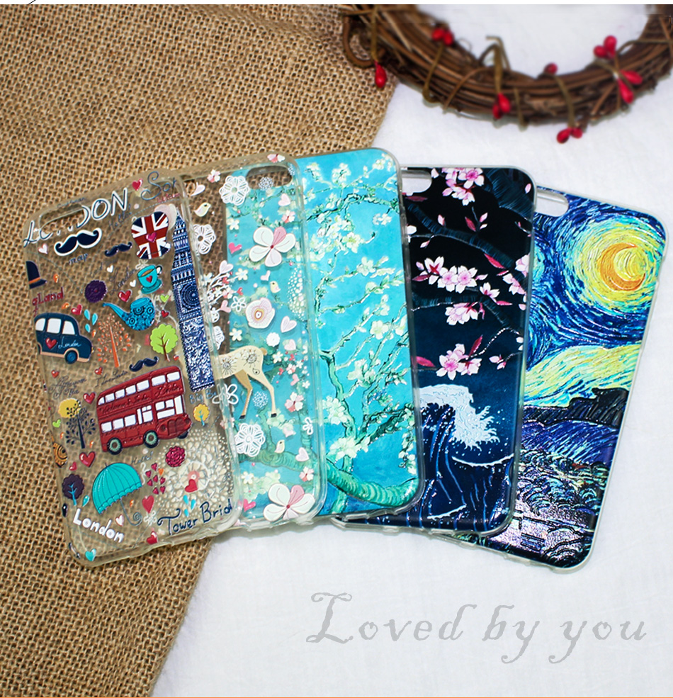 !ACCEZZ TPU Soft Cartoon 3D Protective Back Cover For Apple iphone 66s78 Plus Case Creative Patterned Phone Shell Funda Coque (3)