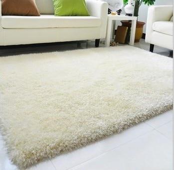 1.2m*1.7m Parlor Carpet Korea Bright Silk Shag Rug Contemporary Living U0026  Bedroom Soft Shaggy Area Rug Multicolor