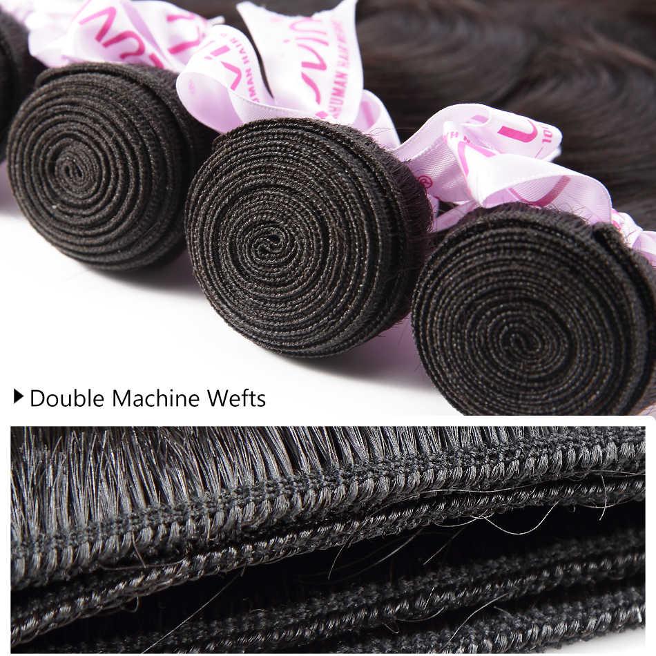 Luvin 30 40 Inch Brazilian Hair Weave Bundels Body Wave Human Hair 3 4 Bundels Met Sluiting Sluiting En Kant remy Hair Extension