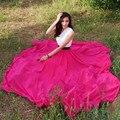 6XL 7 xlPlus Tamaño Estilo Colorido Del Verano Faldas de Playa Bohemio Faldas Plisadas Mujeres Largo Maxi Expansión Gasa Falda de Noche