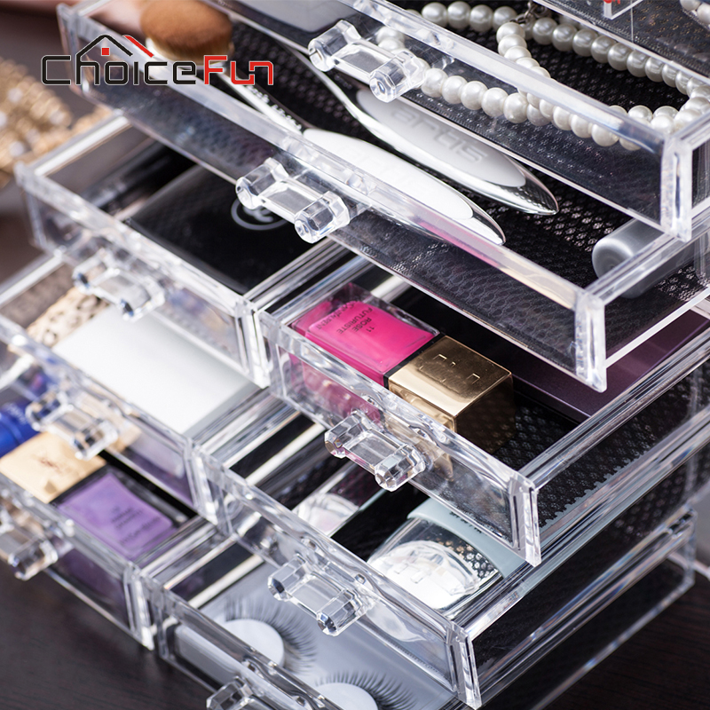 CHOICE FUN 9 Drawers 15 Grids Makeup Organizer Jewelry Accessories Storage  Rings Earring Makeup Plastic Box SF 1005 57 In Makeup Organizers From Home  ...